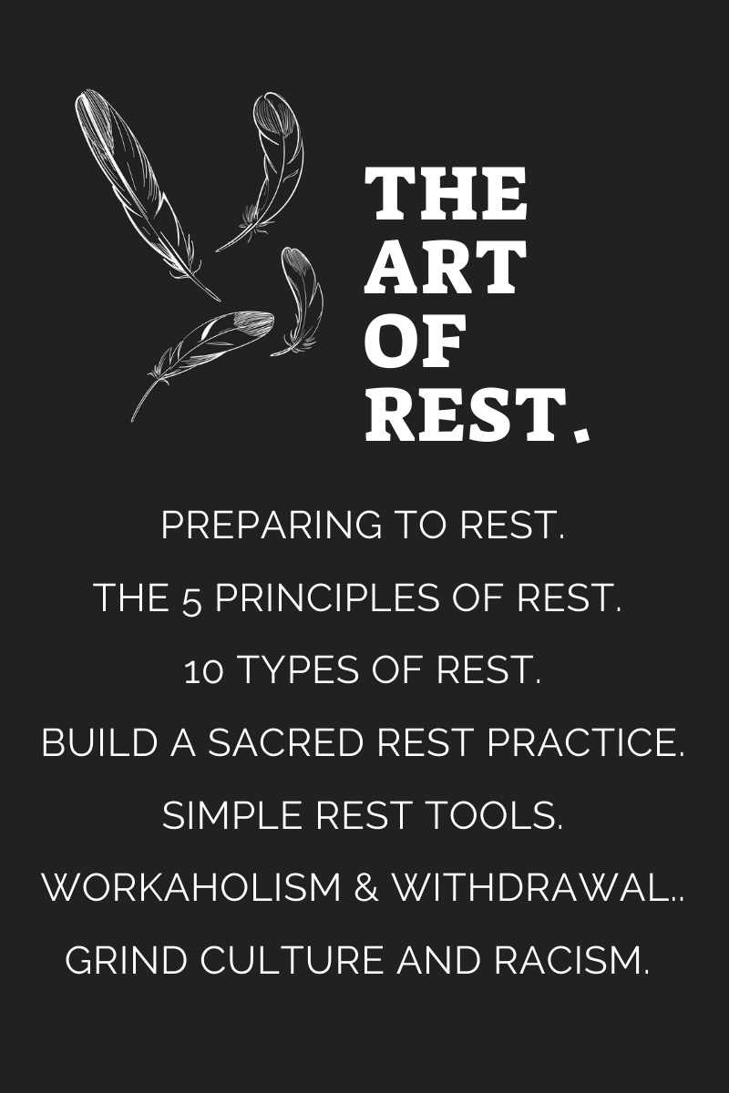 Click below to join Sacred Sista Sanctuary mastermind and as we focus on The Art of Rest.